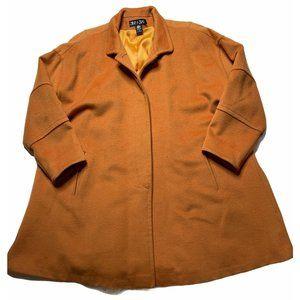 Steve by Searle Wool Swing Coat Brown Orange 10